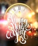Διανυσματικό υπόβαθρο καλής χρονιάς του 2016 με το ρολόι Στοκ Εικόνες