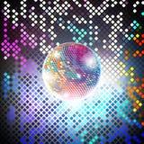 Διανυσματικό υπόβαθρο κομμάτων Disco Στοκ Εικόνες