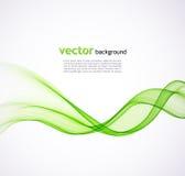 Αφηρημένο πράσινο υπόβαθρο κυμάτων Στοκ Εικόνες