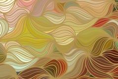Διανυσματικό υπόβαθρο κυμάτων των συρμένων χέρι γραμμών doodle Στοκ Εικόνα