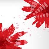 Διανυσματικό υπόβαθρο με τα κόκκινα λουλούδια Στοκ Εικόνα