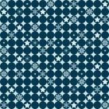 Διανυσματικό υπόβαθρο με την επανάληψη των γεωμετρικών κύκλων με το christma Στοκ Φωτογραφίες