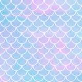 Διανυσματικό υπόβαθρο με την κλίμακα και να λάμψει ψαριών sparcles στη μαλακή κλίση παλετών χρώματος κρητιδογραφιών μαγική απεικόνιση αποθεμάτων