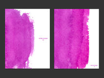Διανυσματικό υπόβαθρο με το ροζ watercolor Στοκ Εικόνες