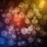 Διανυσματικό υπόβαθρο με hexagons αφηρημένο σχέδιο σύγχρονο Στοκ Φωτογραφία