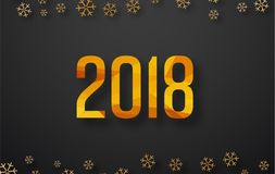Διανυσματικό υπόβαθρο 2018 με snowflakes απεικόνιση αποθεμάτων
