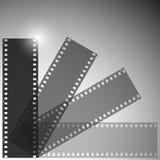 Διανυσματικό υπόβαθρο λουρίδων ταινιών Στοκ Εικόνες