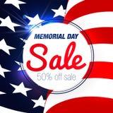 Διανυσματικό υπόβαθρο πώλησης ημέρας μνήμης ελεύθερη απεικόνιση δικαιώματος
