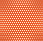 Διανυσματικό υπόβαθρο σημείων Πόλκα αποκριών Πορτοκαλιά και άσπρη ελαφριά ατελείωτη άνευ ραφής σύσταση Σχέδιο ημέρας ημερών των ε ελεύθερη απεικόνιση δικαιώματος