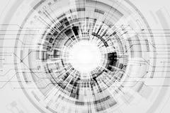 Διανυσματικό υπόβαθρο στην έννοια τεχνολογίας σε ένα γκρίζο υπόβαθρο Στοκ Φωτογραφίες