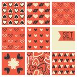 Διανυσματικό υπόβαθρο σχεδίων καρδιών Сute Στοκ φωτογραφίες με δικαίωμα ελεύθερης χρήσης