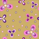 Διανυσματικό υπόβαθρο σχεδίων λουλουδιών άνευ ραφής Κομψή σύσταση για τα υπόβαθρα Στοκ Εικόνα