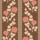 Διανυσματικό υπόβαθρο σχεδίων λουλουδιών άνευ ραφής Κομψή σύσταση για τα υπόβαθρα Κλασσικός ντεμοντέ floral πολυτέλειας απεικόνιση αποθεμάτων