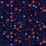 Διανυσματικό υπόβαθρο σχεδίων λουλουδιών άνευ ραφής Ελεύθερη απεικόνιση δικαιώματος