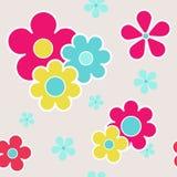 Διανυσματικό υπόβαθρο σχεδίων λουλουδιών άνευ ραφής διανυσματική απεικόνιση