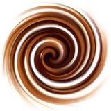 Διανυσματικό υπόβαθρο της στροβιλιμένος κρεμώδους σύστασης σοκολάτας Στοκ Εικόνες