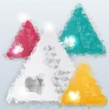 Διανυσματικό υπόβαθρο τριγώνων. Αντικείμενο χρώματος απεικόνιση αποθεμάτων
