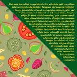 Διανυσματικό υπόβαθρο των καλυμμάτων για τις πίτσες στο επίπεδο ύφος Μερίδιο διαγώνια Στοκ Εικόνες