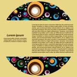 Διανυσματικό υπόβαθρο των χρωματισμένων κύκλων Στοκ εικόνα με δικαίωμα ελεύθερης χρήσης