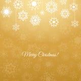Διανυσματικό υπόβαθρο Χαρούμενα Χριστούγεννας με snowflakes Στοκ Εικόνες