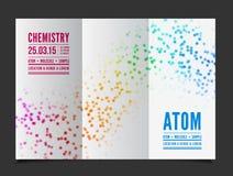 Διανυσματικό υπόβαθρο χημείας απεικόνιση αποθεμάτων