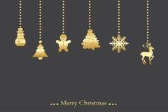 Διανυσματικό υπόβαθρο Χριστουγέννων Στοκ Φωτογραφίες