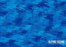 Διανυσματικό υπόβαθρο alpine skiing Στοκ φωτογραφίες με δικαίωμα ελεύθερης χρήσης
