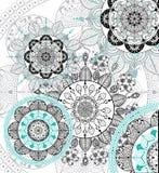 Διανυσματικό υπόβαθρο mandala Zentangle Στοκ Φωτογραφίες