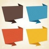 Διανυσματικό υπόβαθρο origami Έμβλημα και ομιλία απεικόνιση αποθεμάτων