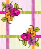 Διανυσματικό φανταχτερό floral έμβλημα Στοκ εικόνες με δικαίωμα ελεύθερης χρήσης