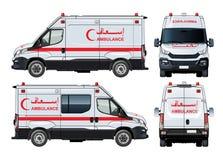 Διανυσματικό φορτηγό ασθενοφόρων Στοκ φωτογραφία με δικαίωμα ελεύθερης χρήσης