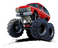 Φορτηγό τεράτων κινούμενων σχεδίων Στοκ Εικόνες