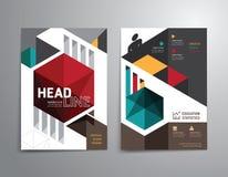 Διανυσματικό φυλλάδιο, ιπτάμενο, σχέδιο αφισών βιβλιάριων κάλυψης περιοδικών Στοκ Φωτογραφία