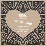 Διανυσματικό φυλετικό εθνικό πλαίσιο ύφους καρδιών Doodle διανυσματική απεικόνιση
