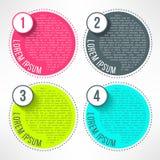 Διανυσματικό φωτεινό infographic πρότυπο στο σύγχρονο επίπεδο ελεύθερη απεικόνιση δικαιώματος