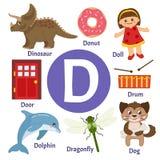 Διανυσματικό χαριτωμένο αλφάβητο παιδιών απεικόνιση αποθεμάτων