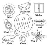 Διανυσματικό χαριτωμένο αλφάβητο παιδιών διανυσματική απεικόνιση