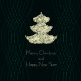 Διανυσματικό χριστουγεννιάτικο δέντρο απεικόνισης Στοκ Εικόνα
