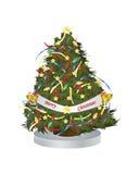 Διανυσματικό χριστουγεννιάτικο δέντρο απεικόνισης Στοκ εικόνα με δικαίωμα ελεύθερης χρήσης
