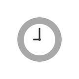Διανυσματικό χρονικό εικονίδιο ρολογιών στο λευκό με το επίπεδο ύφος σχεδίου Στοκ φωτογραφία με δικαίωμα ελεύθερης χρήσης