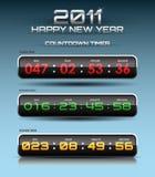 Διανυσματικό χρονόμετρο αντίστροφης μέτρησης Στοκ εικόνα με δικαίωμα ελεύθερης χρήσης