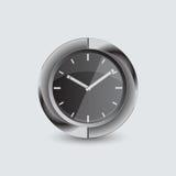 Διανυσματικό χρονόμετρο με διακόπτη απεικόνισης στο γκρίζο υπόβαθρο Στοκ Φωτογραφία