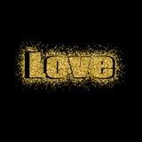 Διανυσματικό χρυσό σχέδιο ευχετήριων καρτών ημέρας βαλεντίνων ` s απεικόνισης με την τυπογραφία Στοκ εικόνα με δικαίωμα ελεύθερης χρήσης