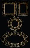 Διανυσματικό χρυσό σχέδιο πλαισίων Στοκ φωτογραφία με δικαίωμα ελεύθερης χρήσης