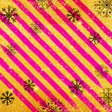 Διανυσματικό χρυσό υπόβαθρο σύστασης με snowflake Ρεαλιστικό κενό σχέδιο για τη κάρτα Χριστουγέννων ελεύθερη απεικόνιση δικαιώματος