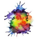 Διανυσματικό χρώμα ψεκασμού, υπόβαθρο παφλασμών watercolor Στοκ Εικόνα