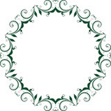 Διανυσματικό όμορφο floral σχέδιο πλαισίων στο λευκό Στοκ φωτογραφία με δικαίωμα ελεύθερης χρήσης