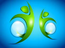 διανυσματικό ύδωρ ανθρώπων φυσαλίδων πράσινο ελεύθερη απεικόνιση δικαιώματος