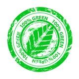 Διανυσματικό 100% πράσινο γραμματόσημο Στοκ φωτογραφία με δικαίωμα ελεύθερης χρήσης