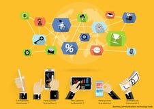 Διανυσματικό 'brainstorming' επιχειρηματιών για εικονιδίων ταμπλετών βολβών τεχνολογιών επικοινωνιών ιδεών το σύγχρονο κινητό παγ Στοκ εικόνες με δικαίωμα ελεύθερης χρήσης